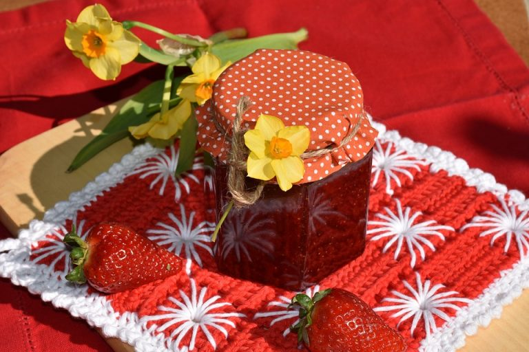 Healthy strawberry jam