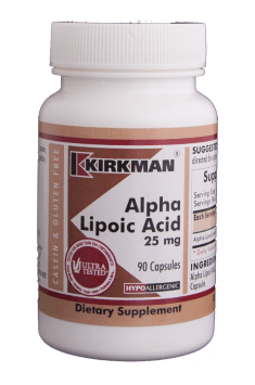 The highest quality Alpa Lipoic Acid in its active form currently on the market can be found in Alpha Lipoic Acid from Kirkman. We strongly suggest checking this one!