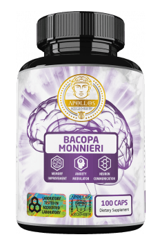 Recommended, highly standardized Bacopa Monnieri supplement, containing high amount of Bacosides - Bacopa Monnieri from Apollos Hegemony