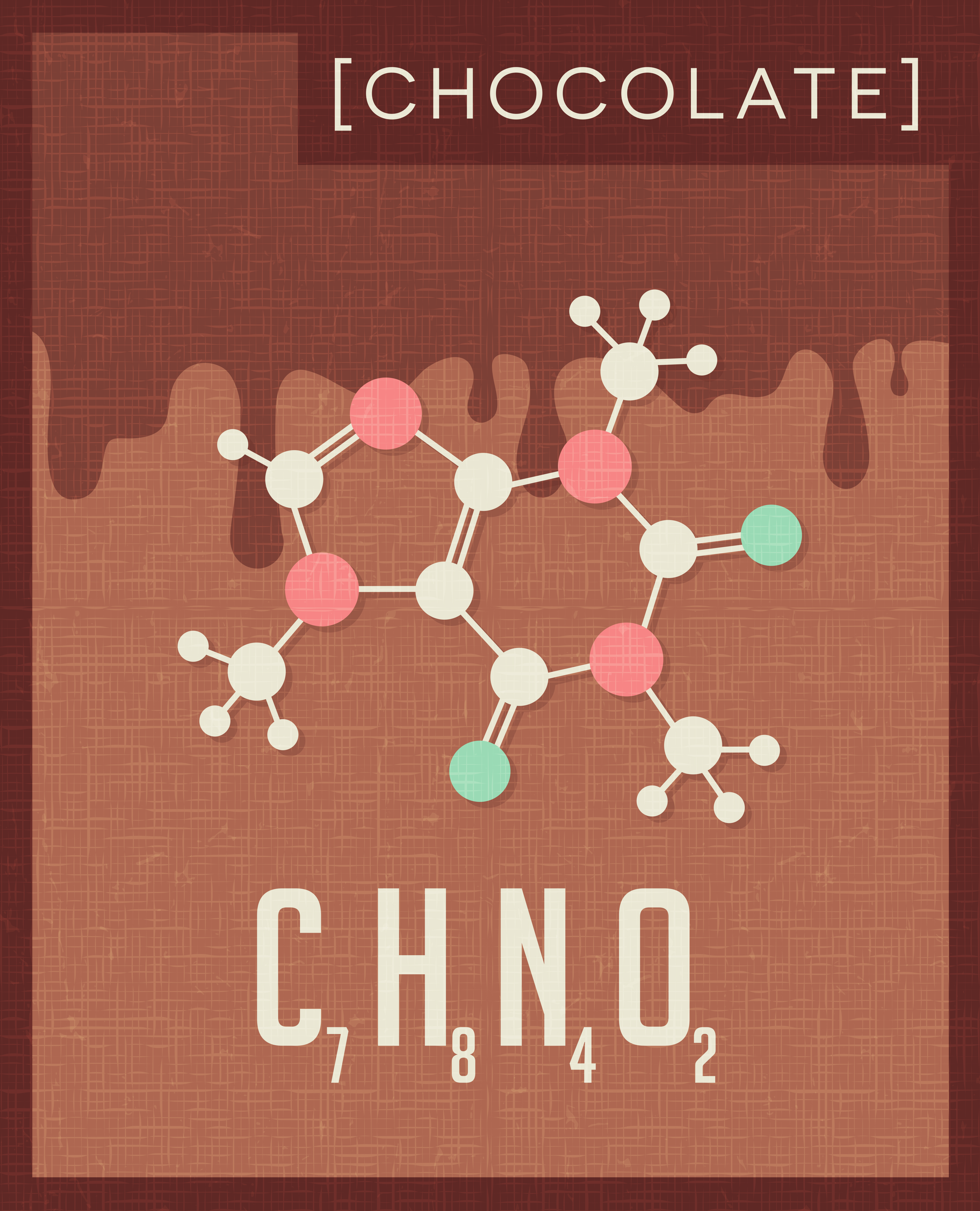 Theobromine - a main stimulant which chocolate contains, and a reason why you feel better after eating it!