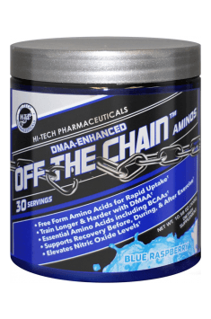 Recommended supplement containing BCAA with addition of stimulants and other amino acids - Off the chain from Hi Tech Pharmaceuticals