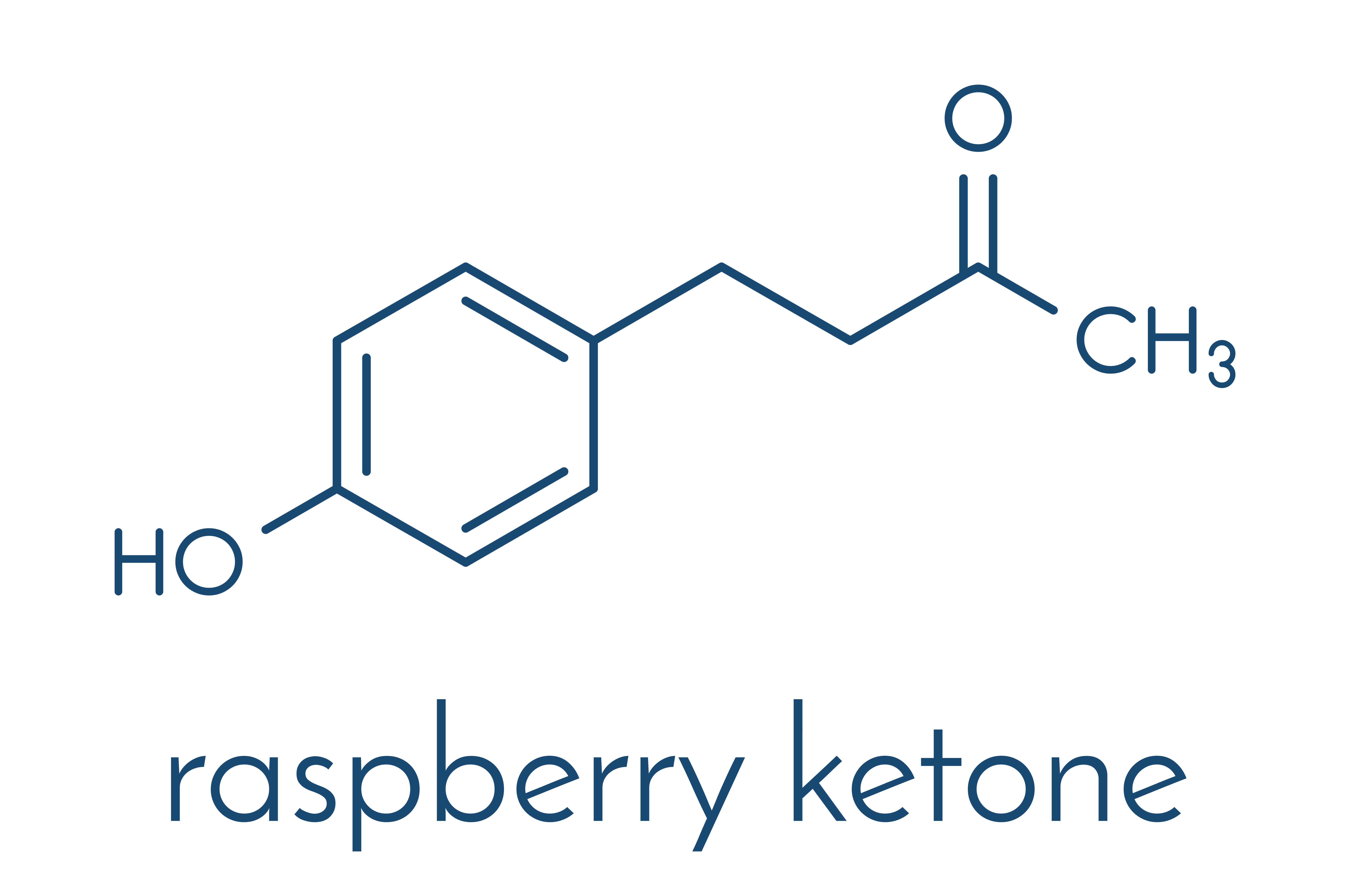 How does raspberry ketones look like? Here is chemical formula of those!