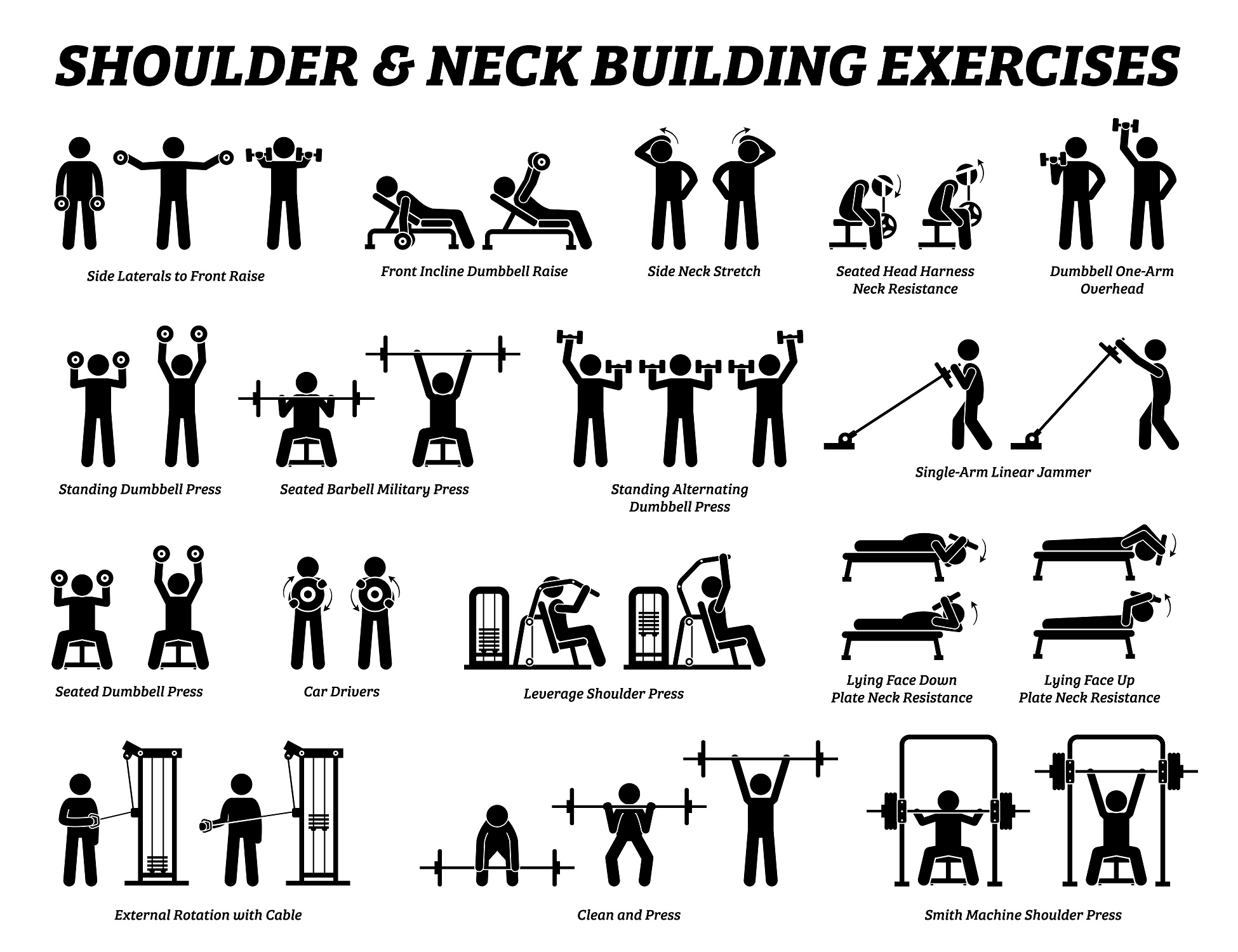 If you need inspiration for shoulder workout - here we are giving you some examples for that!