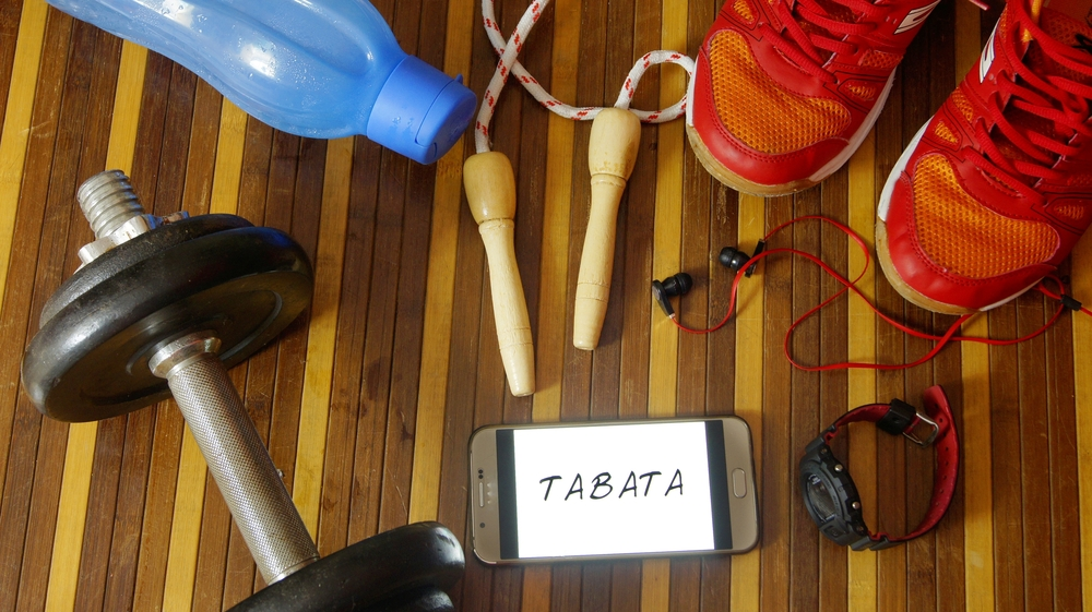 You can use many equipments for your Tabata training. You can also use some training apps to check your training tempo!
