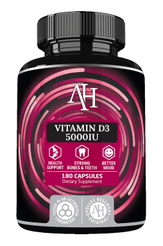 Clinically tested Vitamin D3 in high, 5000IU concentration