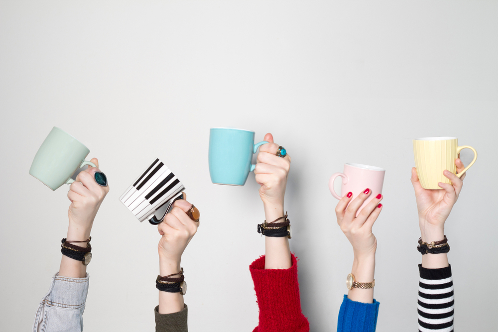 So, raise your cup with coffee right with us!