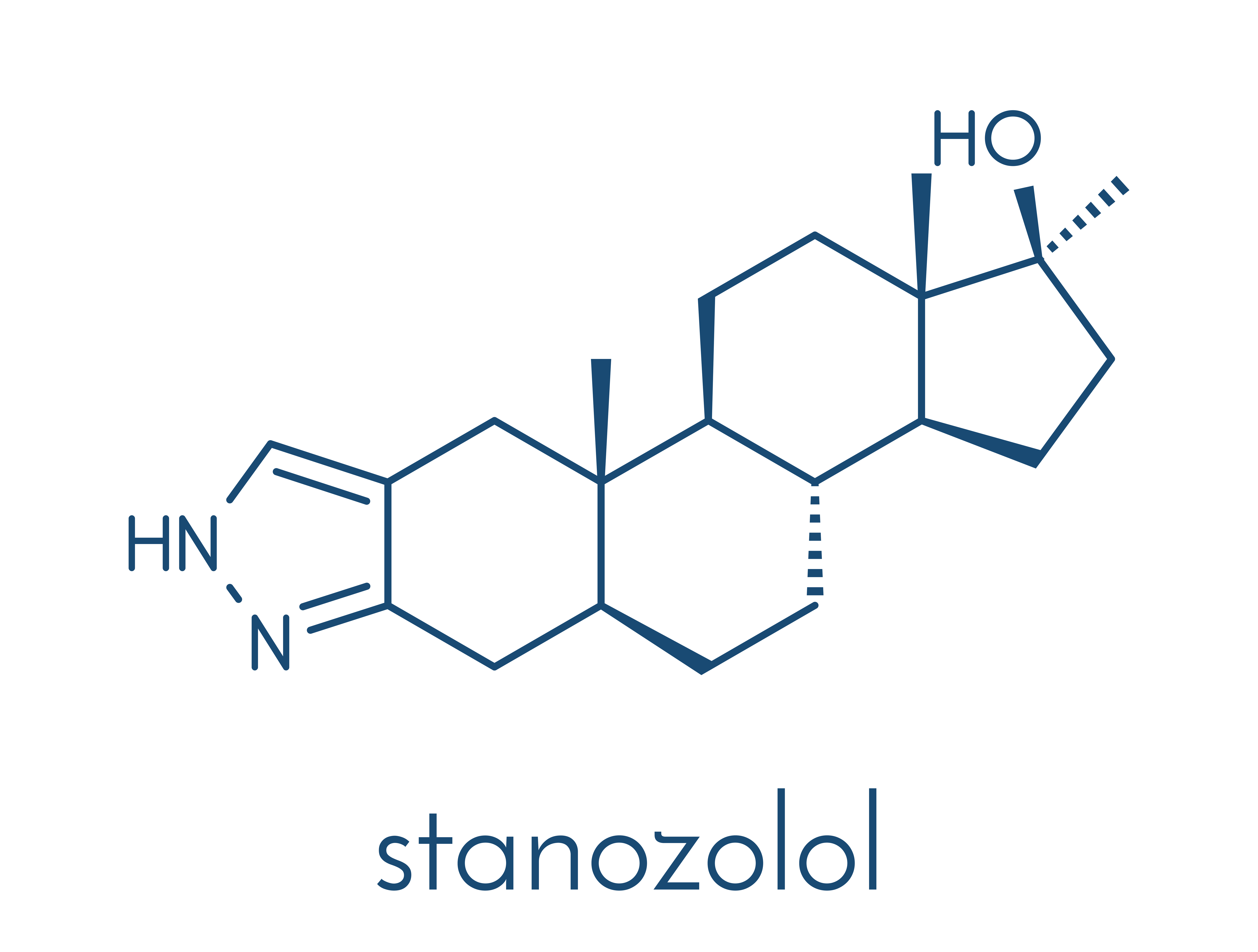 Stanozolol (Winstrol) chemical structure