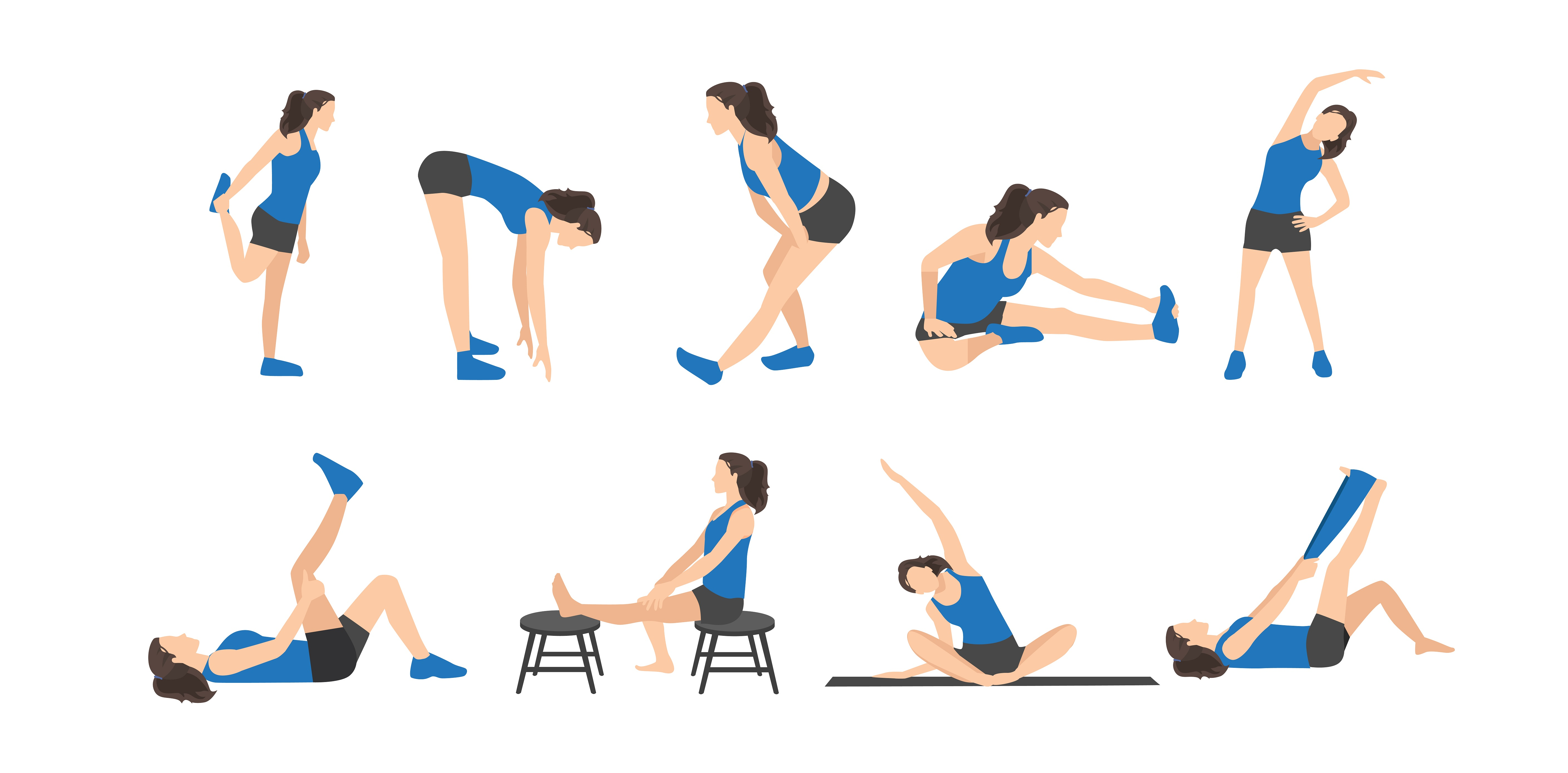 Example of static stretching routine