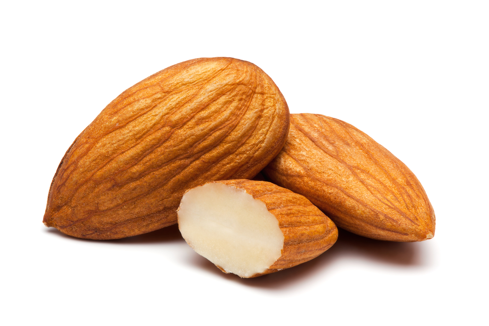 Almonds - high in magnesium and helpful in losing weight!