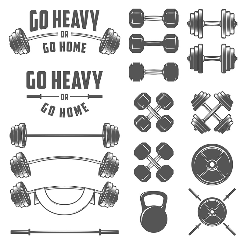 Barbells and dumbbells - our greatest and oldest friend on the gym!