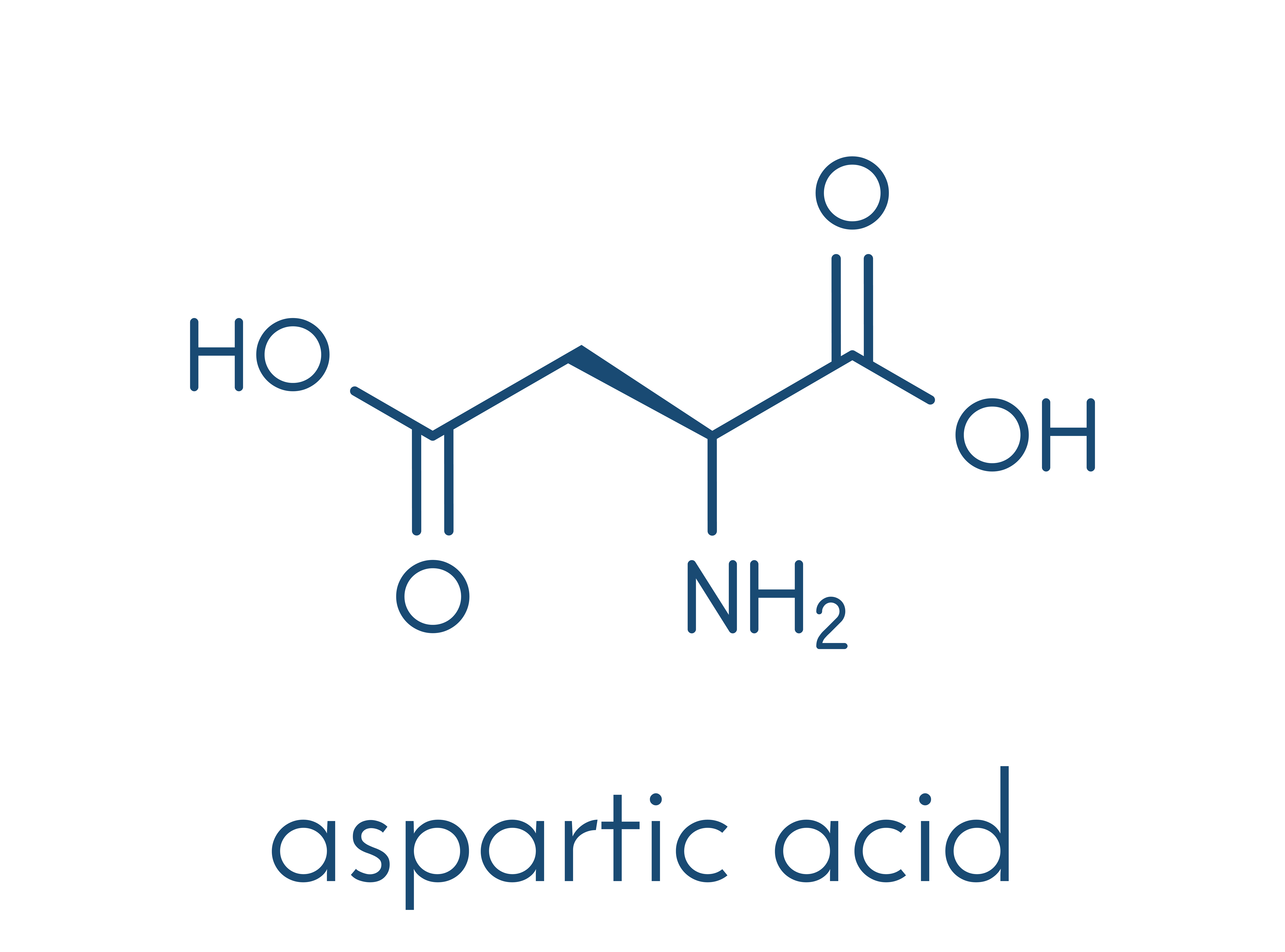 DAA - D-aspartic acid chemical formula