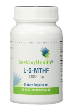 The most known brand concerning about valuable MTHFR-related supplements is Seeking Health. And their L-5-MTHF supplement is probably the best known all around the world! If you are looking for the best quality one - this should be your choice!