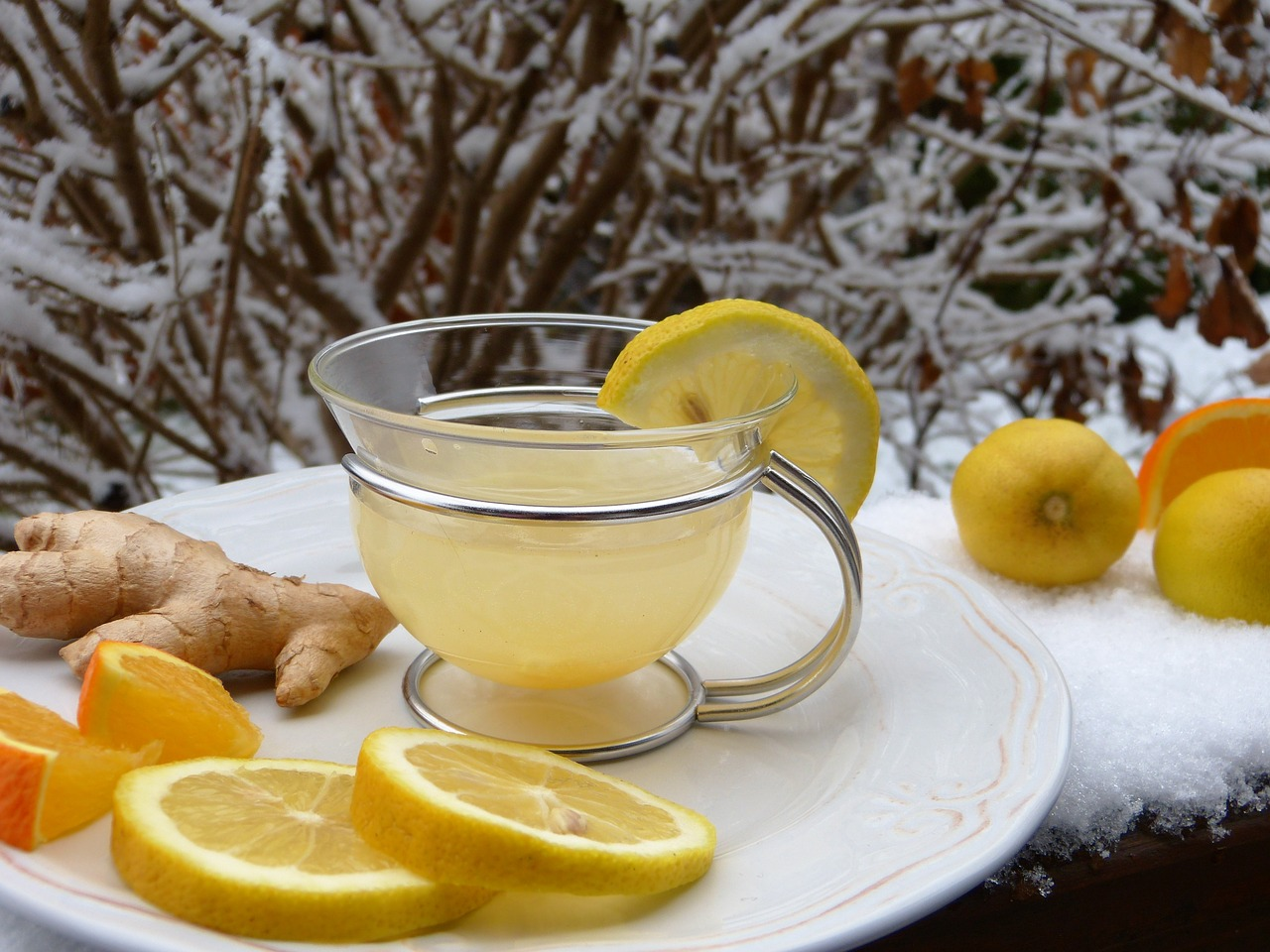 A tea, with lemon and ginger? Great, natural way to boost immunity!
