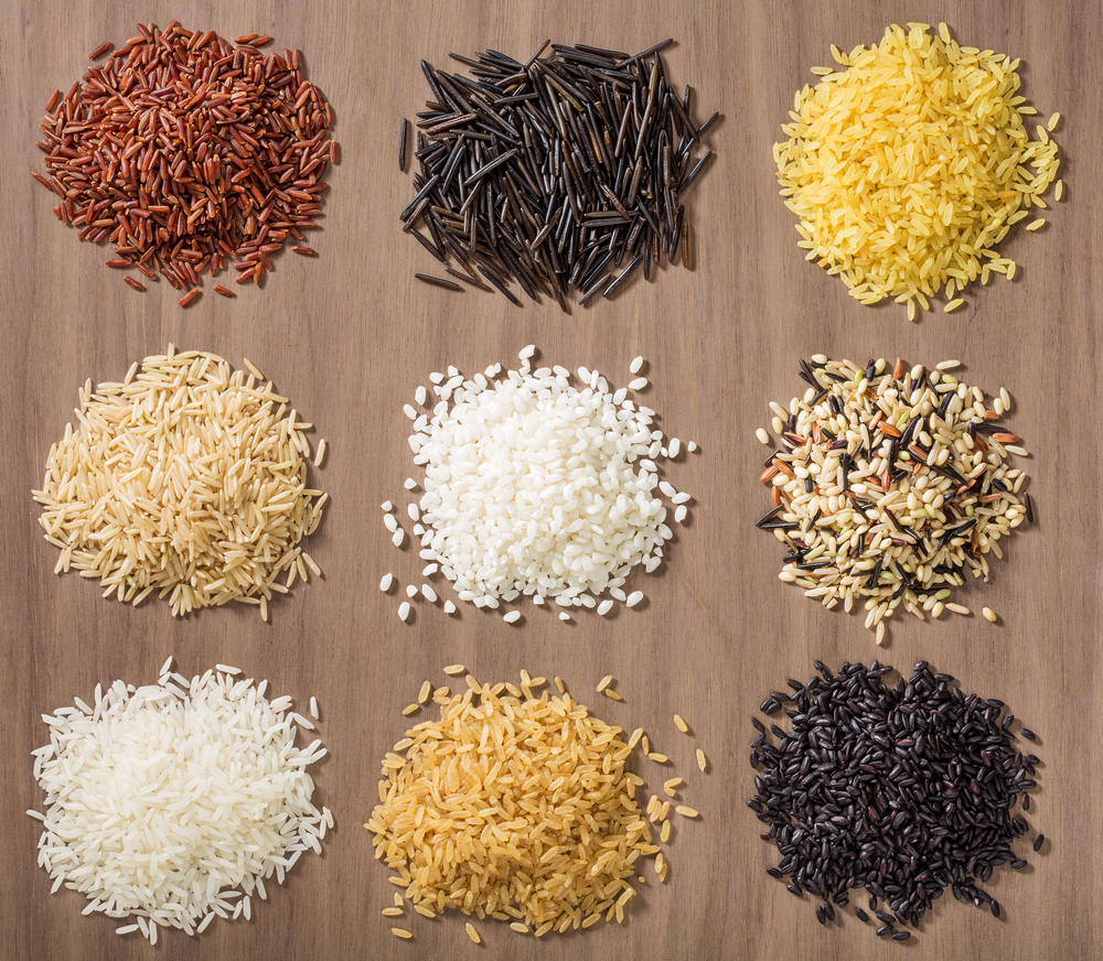 Different types of rice. Which one is your favourite?