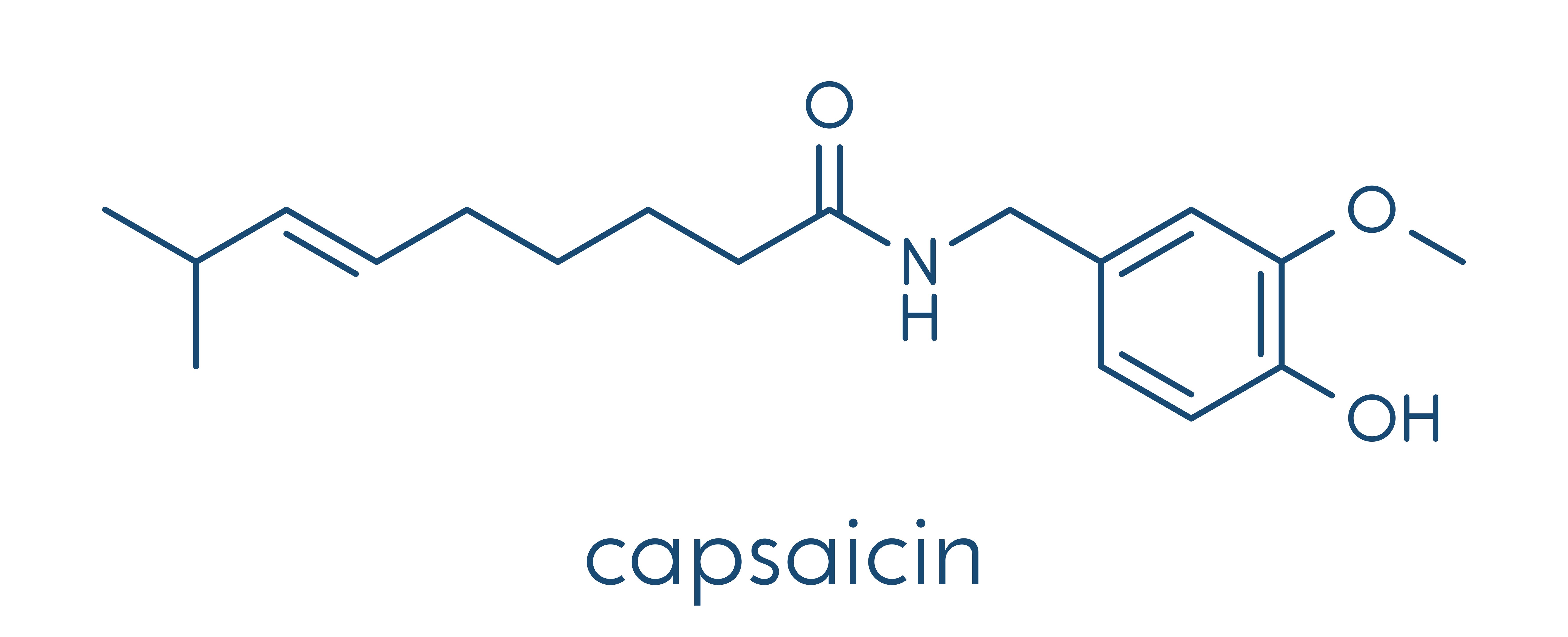 Capsaicin - chemical formula
