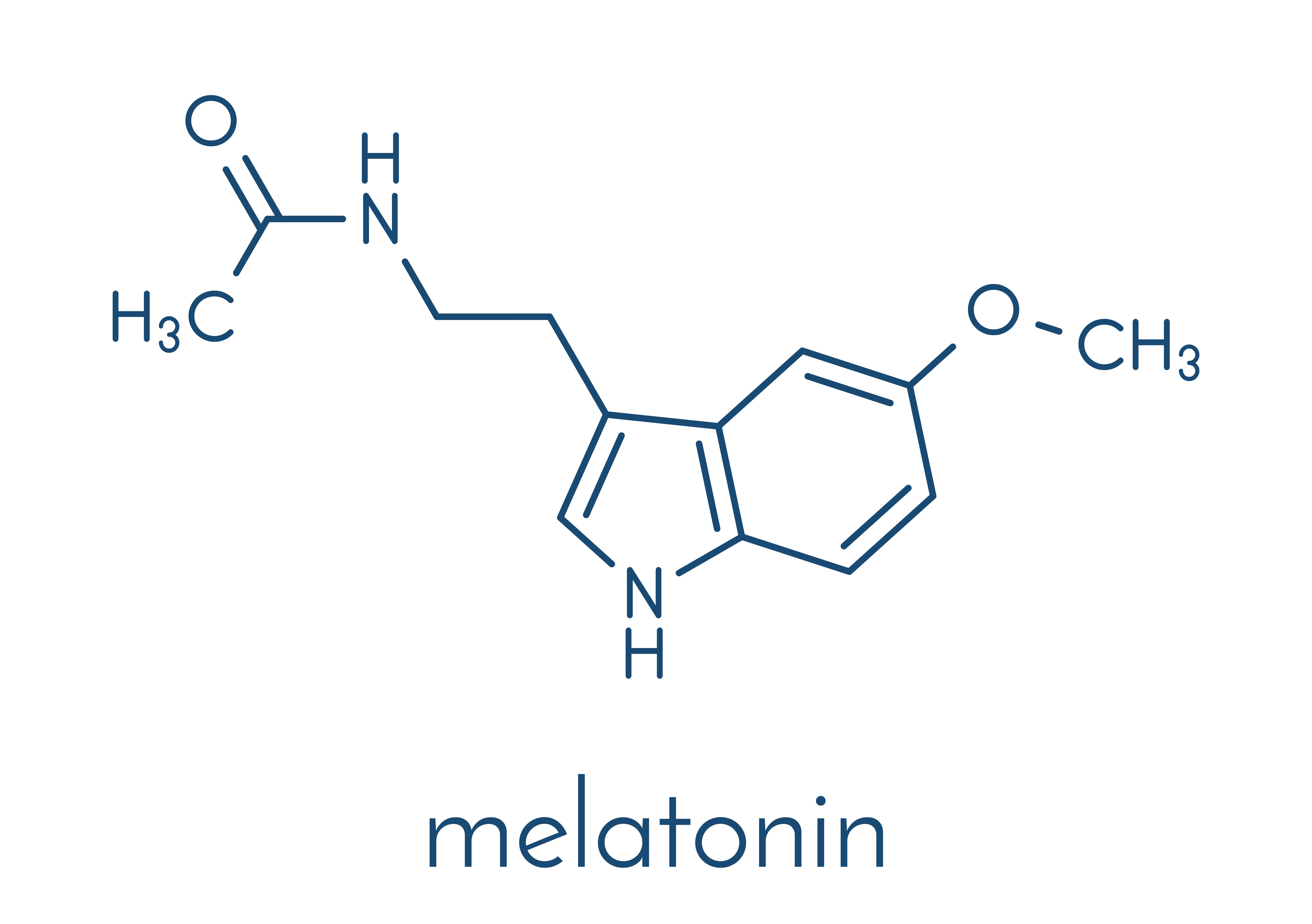 Chemical formulation of melatonin