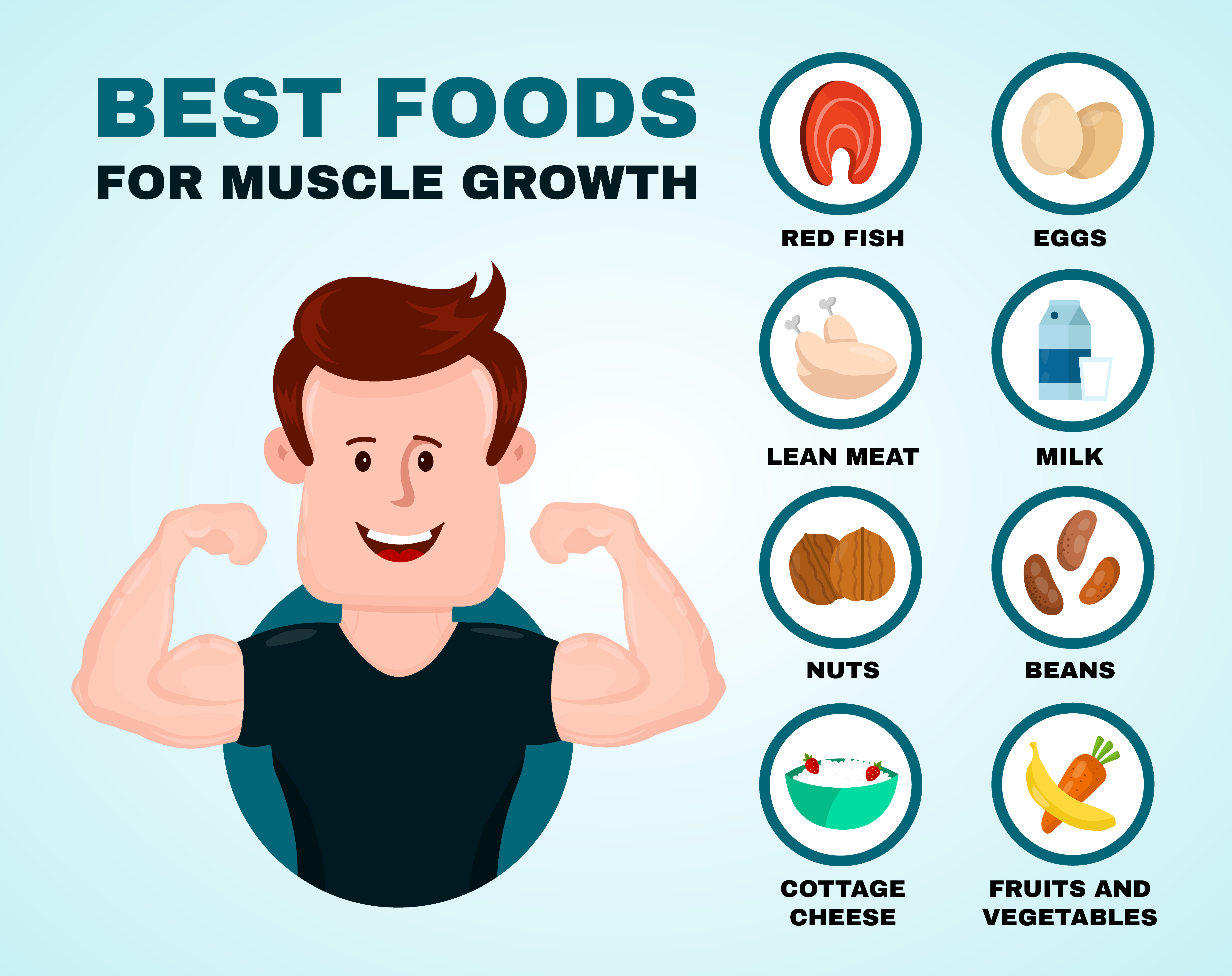 We have some examples of great food to build your muscle!