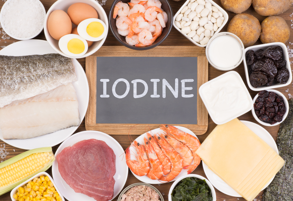 Most important sources of iodine in diet