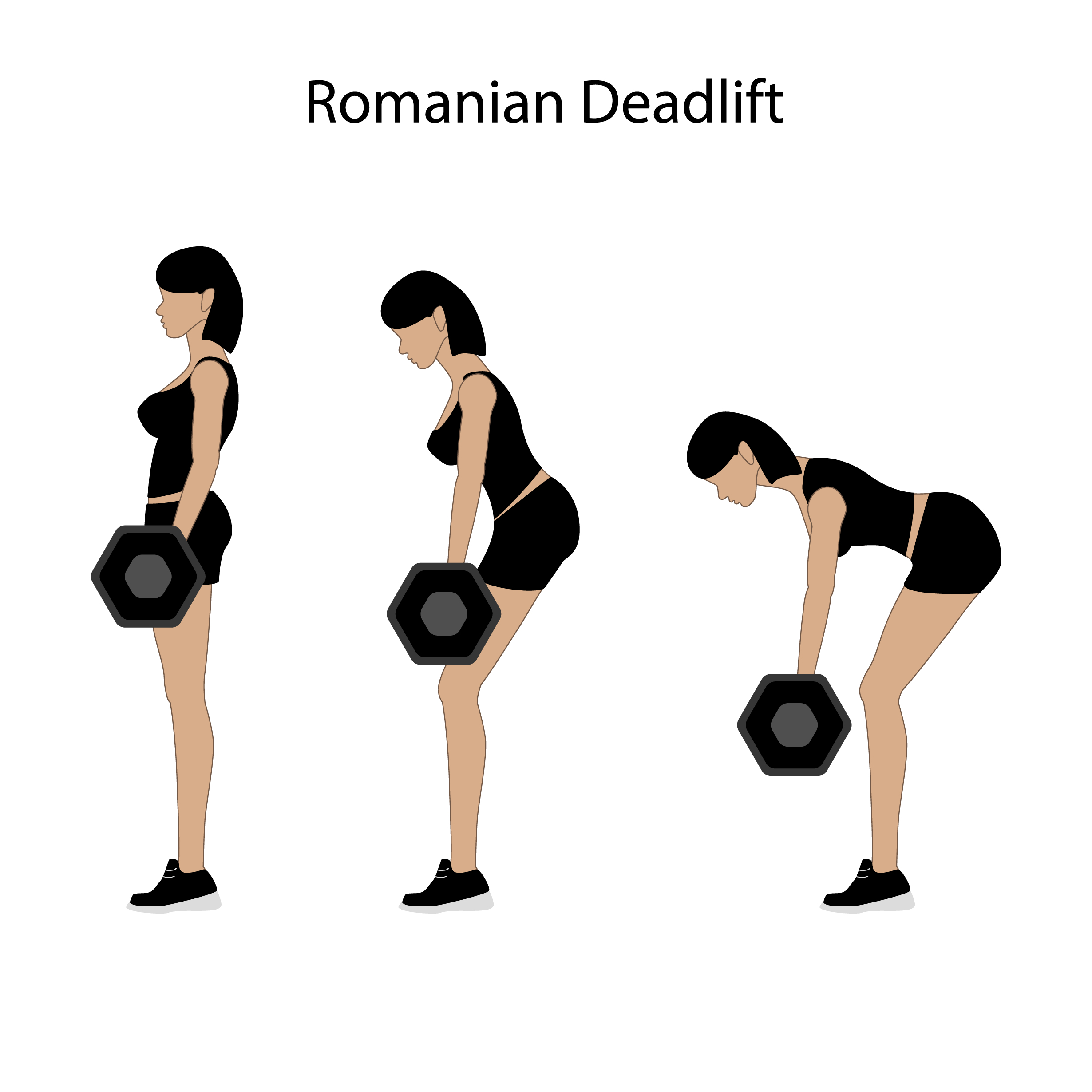 Romanian deadlift technique