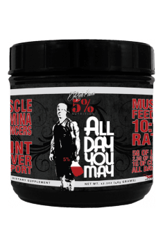 All Day You May from 5% Nutrition is just perfect Intra workout supplements, containing whole range of supporting ingredients like BCAA, carbohydrates and glutamine!