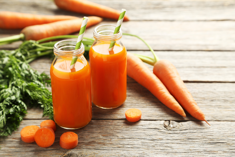 Juice made of carrots is also great!