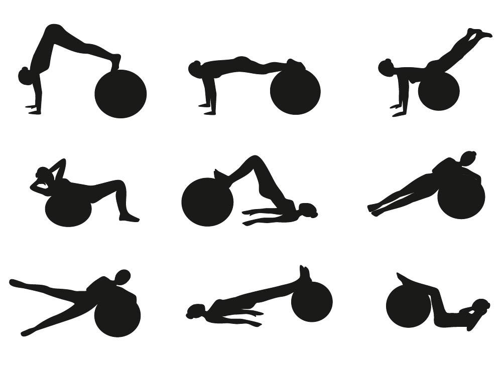 Some ideas for exercises with swiss ball