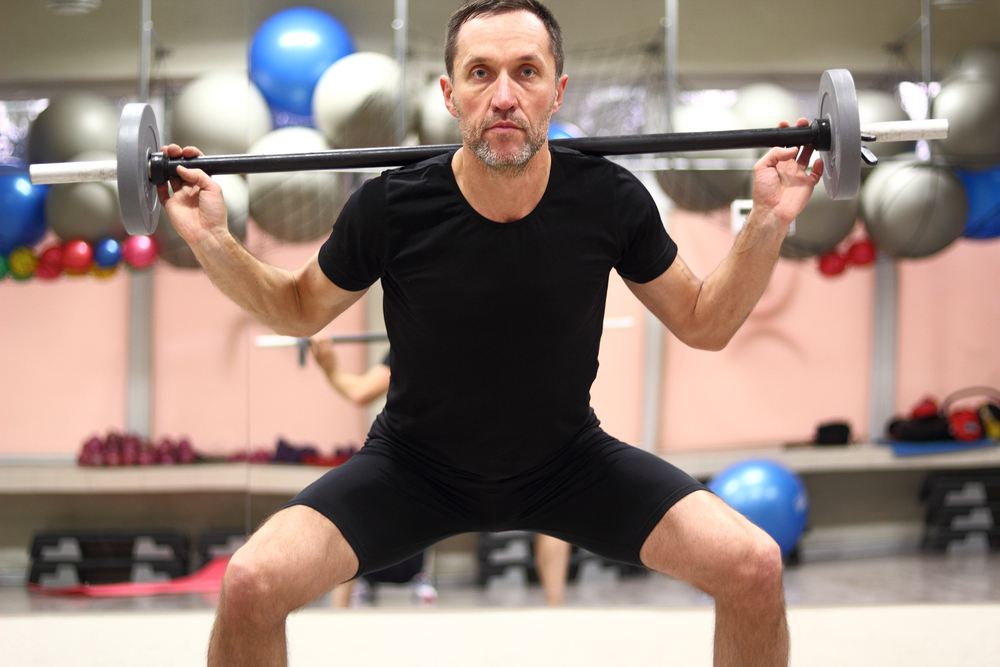 Squat jump with barbell can be interesting variation in training!
