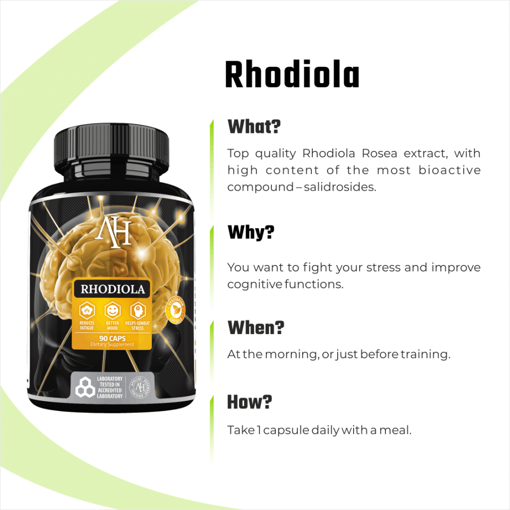 Rhodiola Rosea infographic