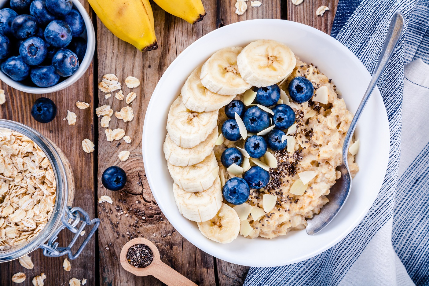 Remember to add some fruits to your oatmeal!