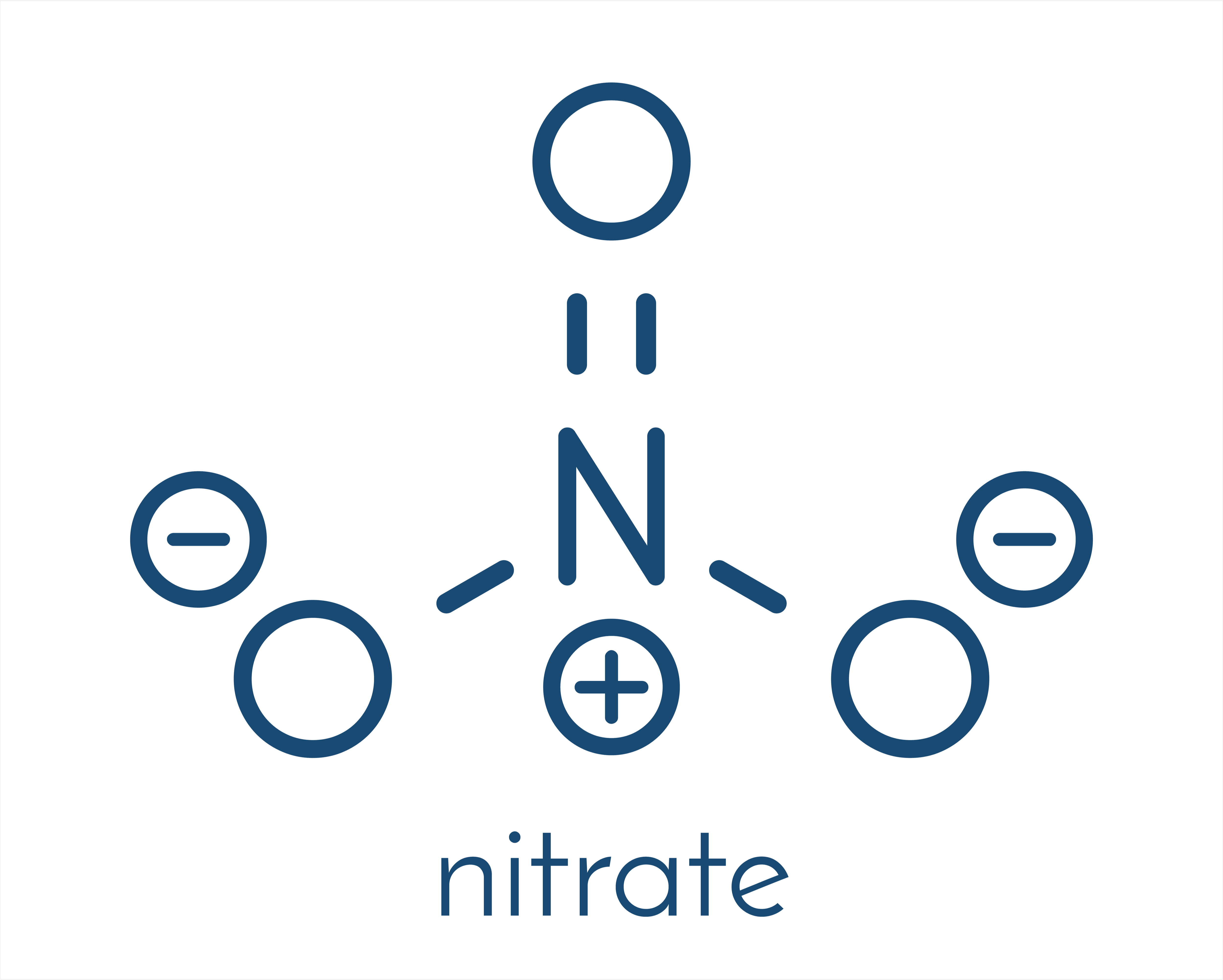 Chemical structure of nitrate
