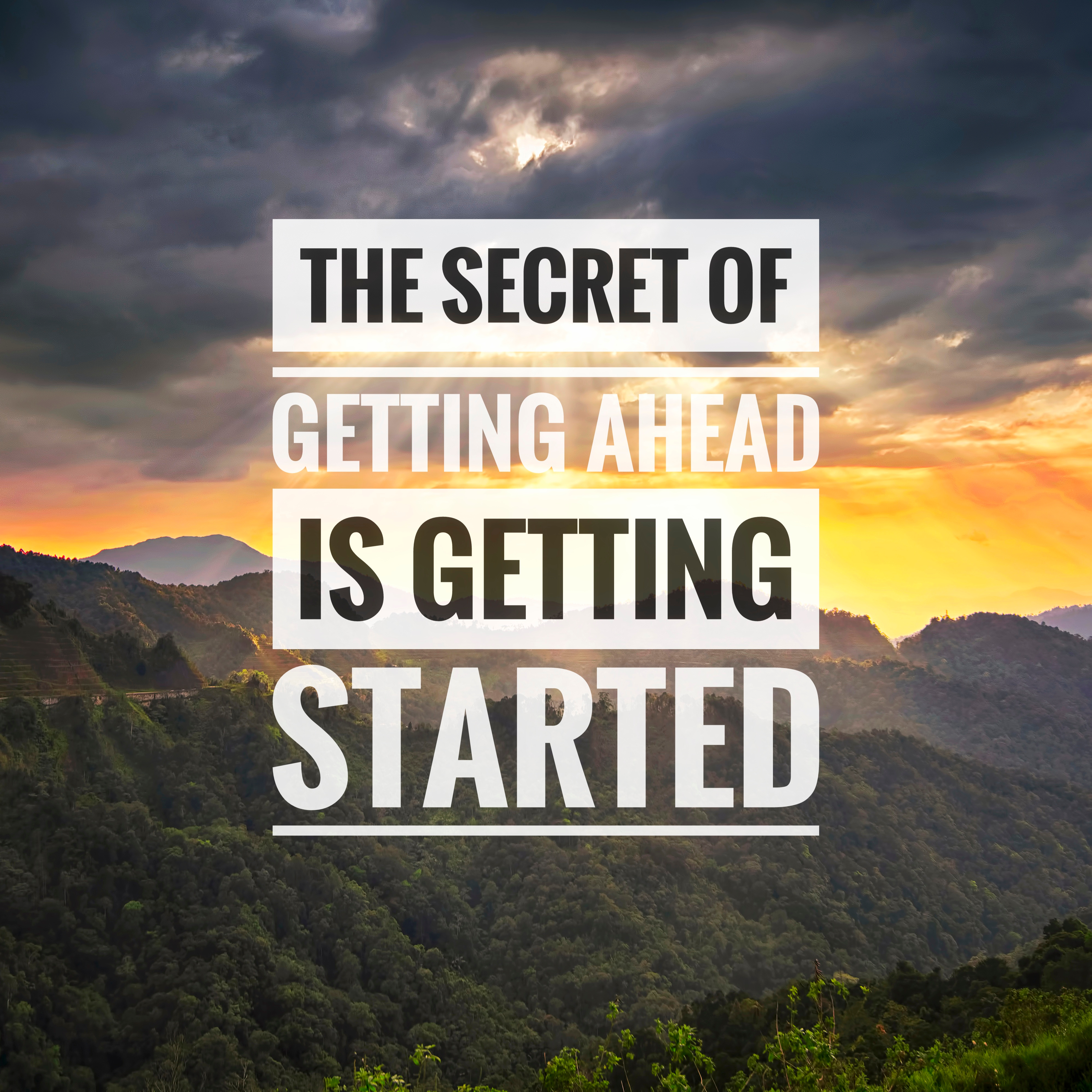 The hardest is to start!