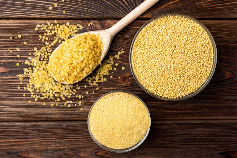 Millet flakes in the diet