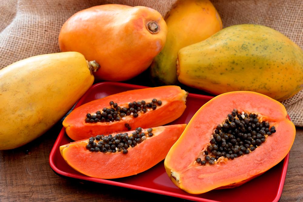 Fresh Papaya fruits