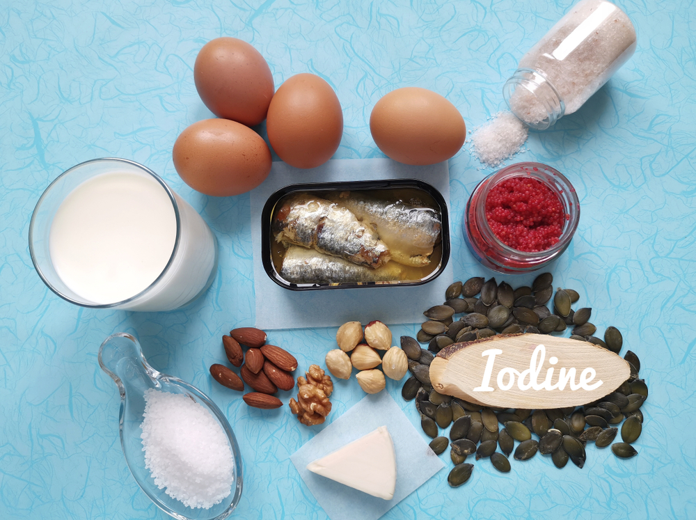 Main sources of iodine in the diet