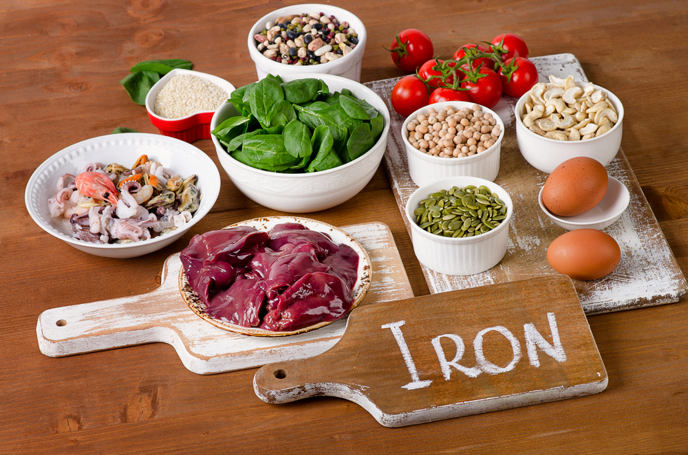 Main sources of iron in the diet
