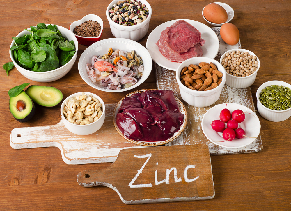Main sources of zinc in the diet