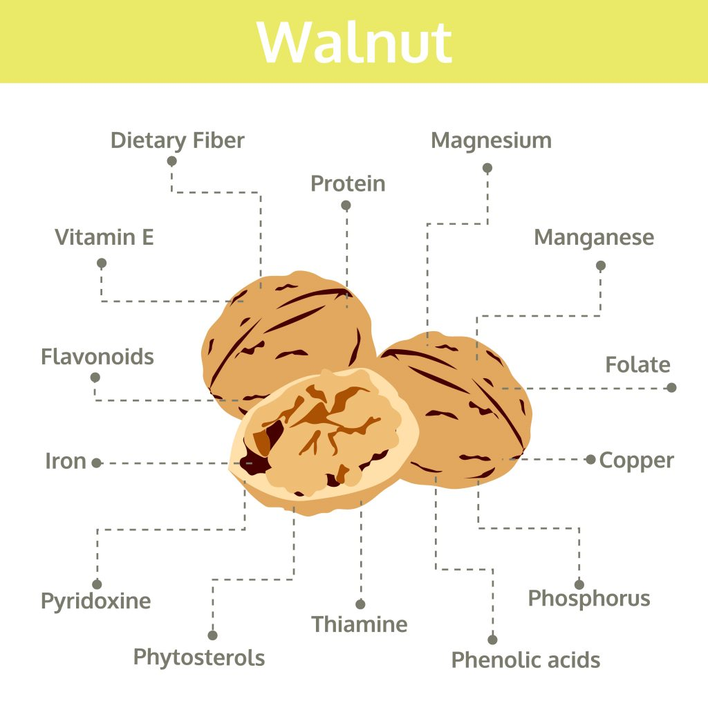 What do walnuts contain?