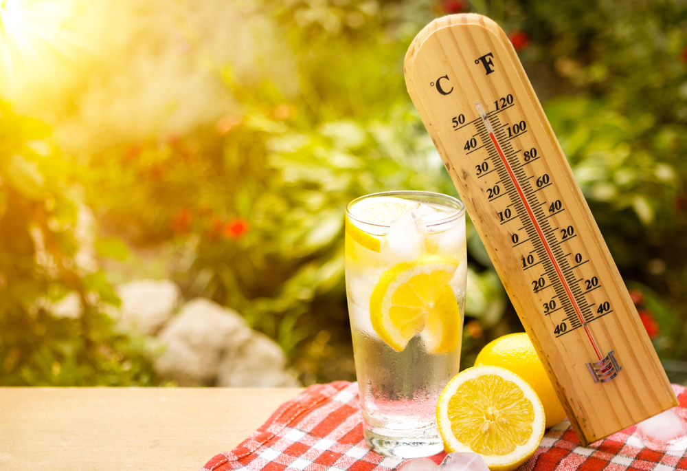Cold water with lemon can be just great choice for the hot weather!