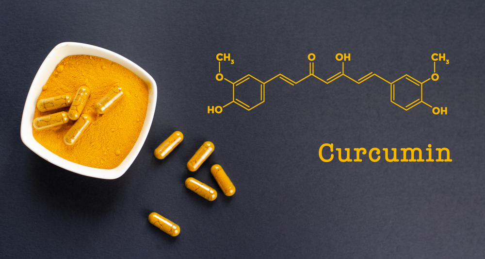 Turmeric and chemical structure of curcumin