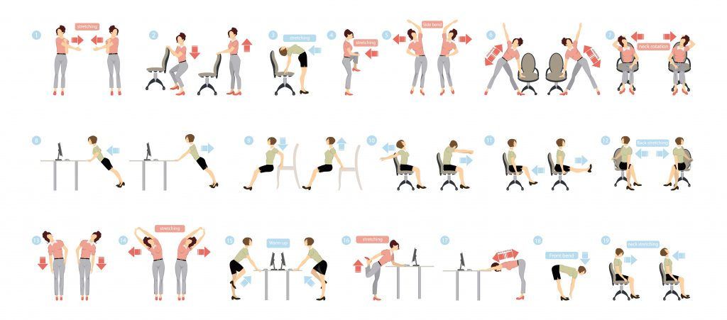 Ideas for stretching in the office