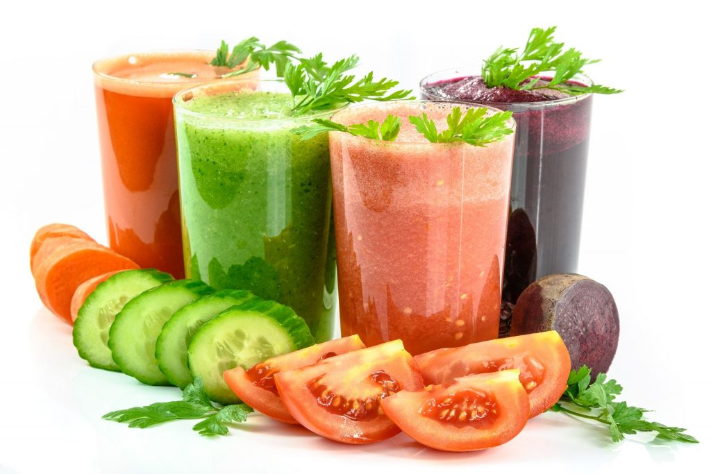 Just take some vegetables and blend them up to get a great drink for heat!