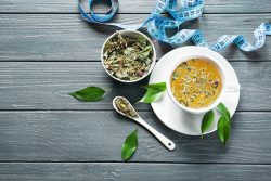 Teas and herbal supplements to support slimming