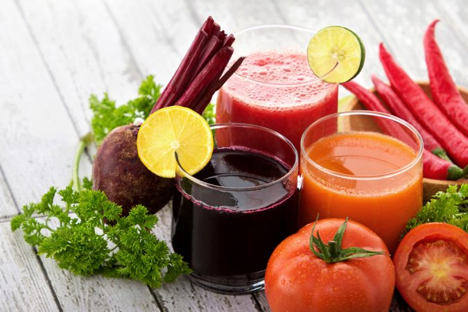 Homemade juices