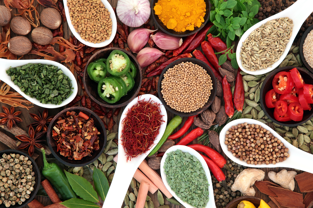Natural herbs and spices can be great help during weight loss diet