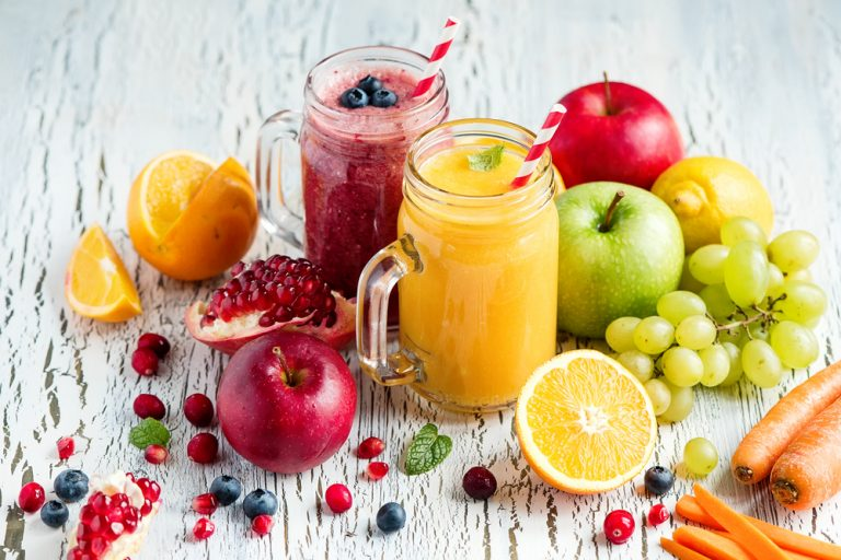 Health properties of juices