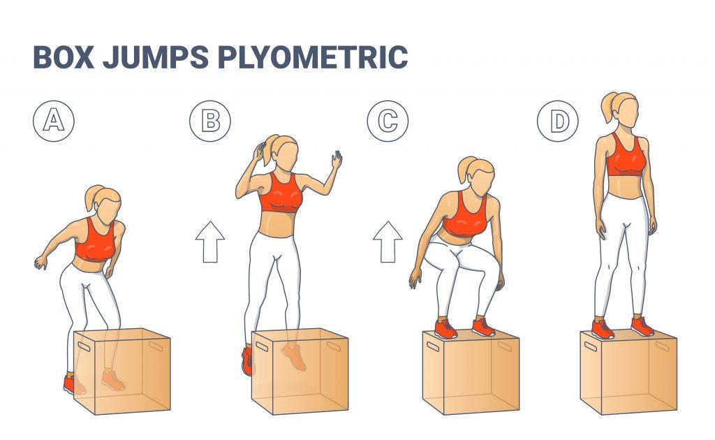 Example of plyometric training exercise