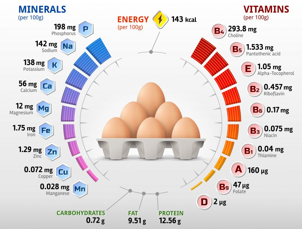 Composition of eggs