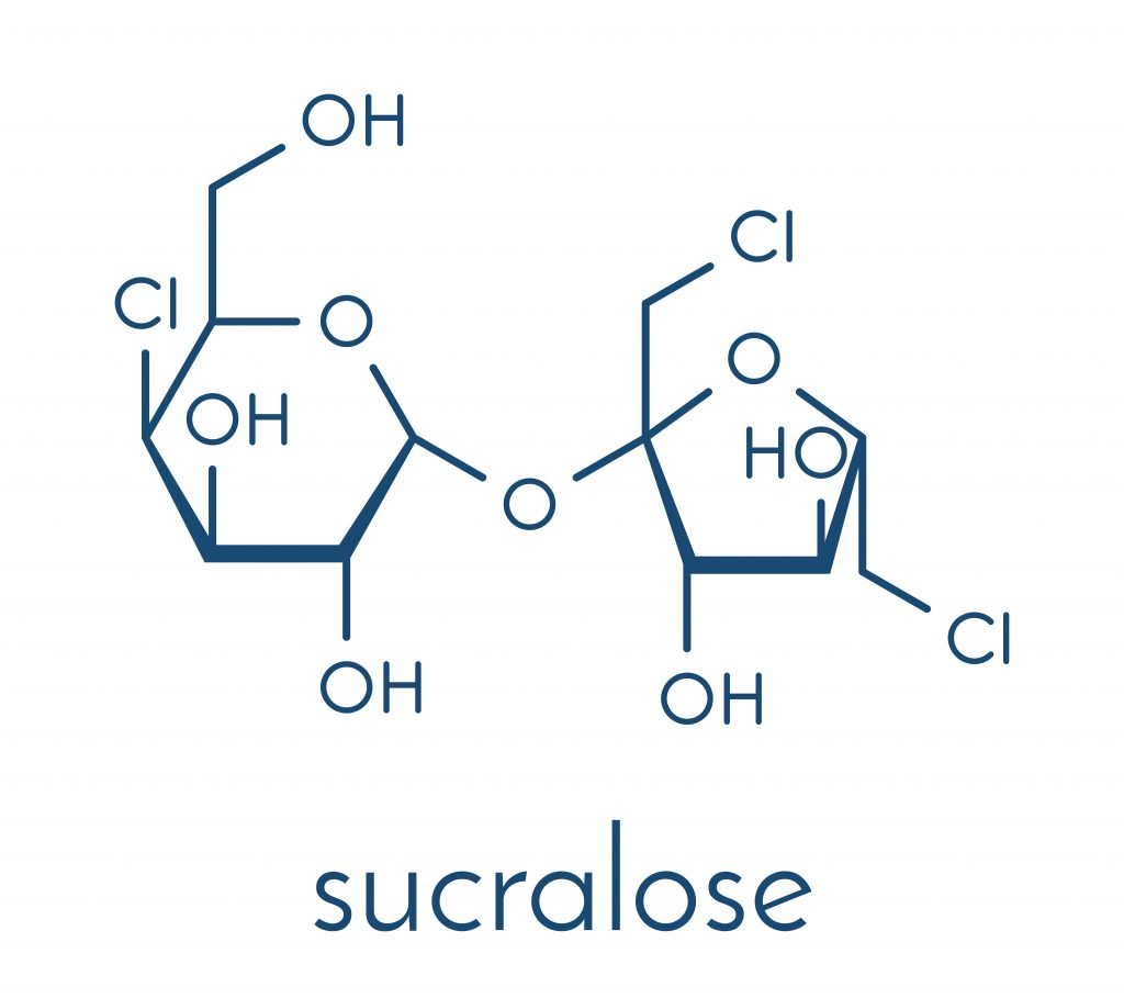 Chemical structure of sucralose