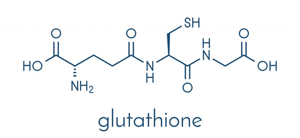 Chemical structure of glutathione