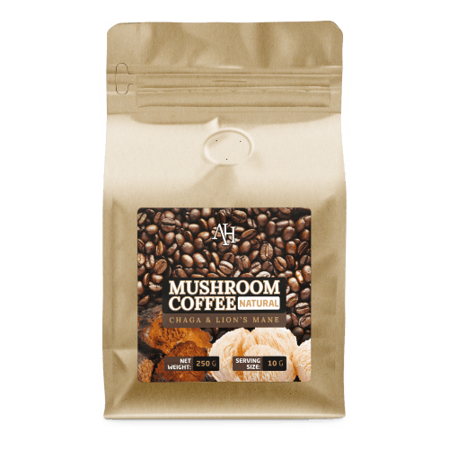 Apollo's Hegemony Mushroom Coffee - a blend of Coffee, Lion's Mane and Chaga extracts